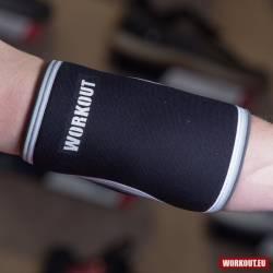 Neoprene Elbow Sleeves (1 piece) 5 mm Workout Black