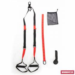 Suspended fitness system WORKOUT - Core STS - red