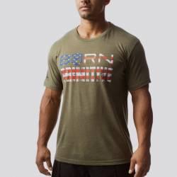 Man T-Shirt The Patriot Brand Tee (OD Green)