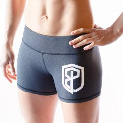Woman Shorts Renewed Vigor Booty Shorts (Heather Grey)