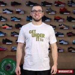 Nike Mens Tee Get under it - White/Gold