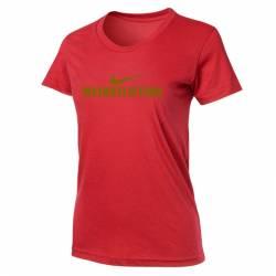 Woman T-Shirt Nike Weightlifting - Červená/Zlatá