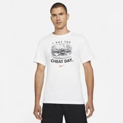 Man T-Shirt Nike Cheat day - white