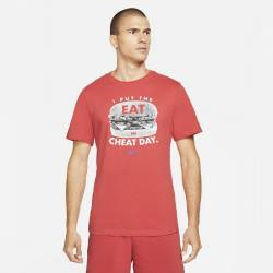 Man T-Shirt Nike Cheat day light red