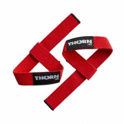 Lifting straps Thornfit Cotton - red