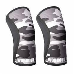Bandáž kolene WORKOUT 5 mm - pár - camo