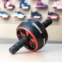 Duální posilovací kolečko Workout - červené