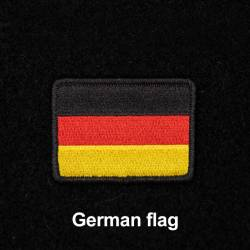 Nášivka německé vlajky se suchým zipem 7 x 5 cm