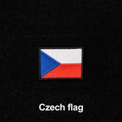 Patch with Czech flag with Velcro 4 x 2.5 cm